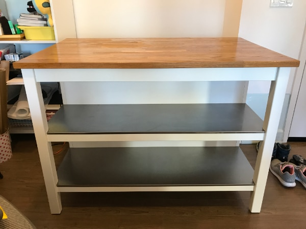 IKEA STENSTORP Kitchen island/working station (White/oak)