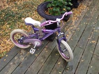 toddler's purple and white bicycle Brantford, N3T 5G4