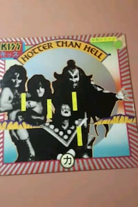 "Kiss ""Hotter than Hell"" vinyl album La Plata, 20646"