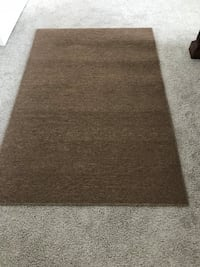 rectangular brown and white area rug Sanford, 32771