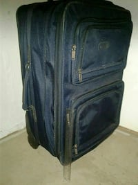black leather luggage Lubbock
