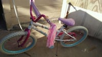 toddler's pink and white bicycle Fresno, 93702