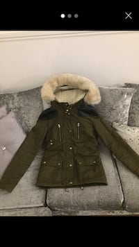 brown and black parka jacket London, NW5 2UX