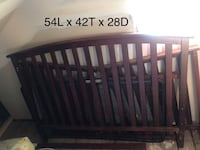 Baby's brown wooden crib Mt Rainier, 20712