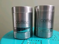 2 Coffe storing tins - stainless steel Farmington Hills
