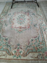 white, green, and pink floral area rug Laval, H7G 3W5