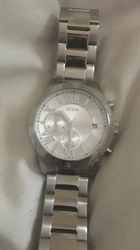 Brand new silver Guess chronograph watch