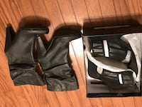 Pair of black leather cone-heeled boots and pair of high heels boots size 9m and heels are 9w Manassas, 20110