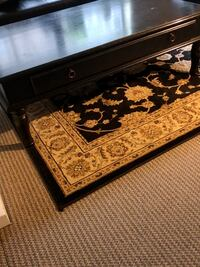 Wooden coffee table black