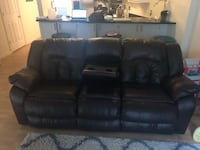 Leather Recliner Sofa, w/accent Chair Alexandria, 22315