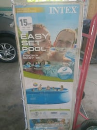 New intex 15×42in easy set pool $180 Murray, 84123