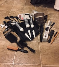 Cosmetology brushes capes and left over stuff San Diego, 92110