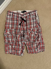 Men's Calvin Klein, FCUk and Guess plaid shorts  Waterloo, N2T 2Y7