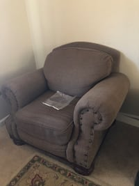 brown fabric sofa chair with throw pillow Elk Grove, 95757