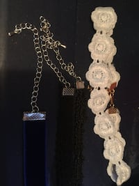 white and silver beaded necklace Edmonton, T6J 5R2