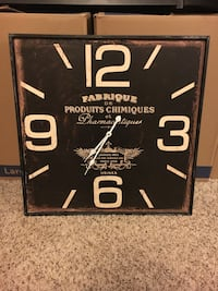 Large Black Wall Clock Le Claire, 52753