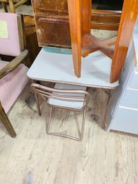 #D395 - Fold Up Kids Table & Chair  Galion