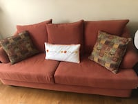 Couch, loveseat, ottoman
