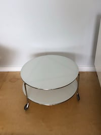 round white wooden coffee table Chicago, 60642