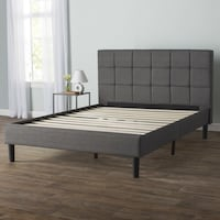 Colby Upholstered Platform Bed Frame and Headboard (Queen) Arlington, 22201