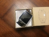 black and grey Smart watch with box