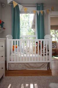 Solid wood Crib & Organic Mattress