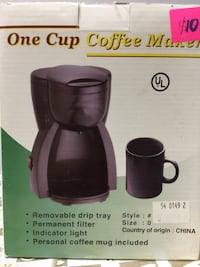 New ONE CUP COFFEE MAKER  583 mi