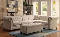 Brand new tufted sectional $1499 no credit Check financing  Massapequa, 11758