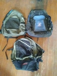 3 older back packs still good