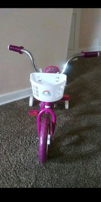pink and white bicycle with training wheels Baltimore, 21202