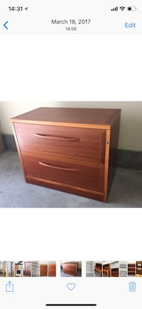 Brown wooden file cabinet Los Angeles, 90272