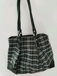 black and white leather tote bag Calgary, T3M 1Z4