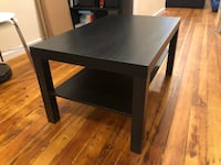rectangular black wooden coffee table New York, 10009