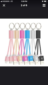 Dual USB head for iPhone and android  key chain black colour only