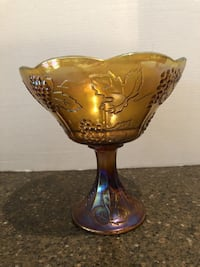 "Carnival Glass 9"" Tall Candy Dish Manassas"