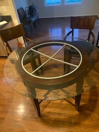 Round Glass Breakfast Table