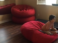 XL Beanbags and Ottomans CARLSBAD