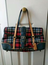 COACH purse - plaid holiday print Ashburn