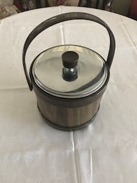 Vintage Ice Bucket with this tongs