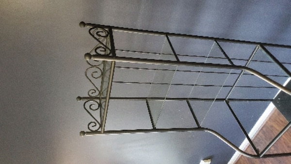 Metal stand w/ shelves  2
