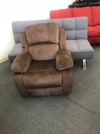 brown suede recliner sofa chair Chicago, 60621