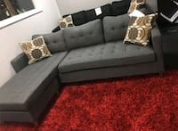 Brand New Grey Linen Sectional Sofa Couch  Arlington, 22209