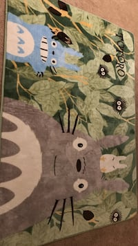 Totoro White and green carpet + rug