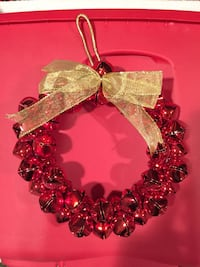 10 inch Red Bell Wreath Totowa, 07512