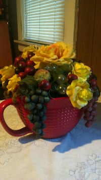 LARGE FRUIT AND FLOWER CENTERPIECE
