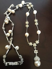 Fine fashion jewelry by Monet * Pretty necklace crystals & pearls from Macy's  MONET * Alexandria, 22311