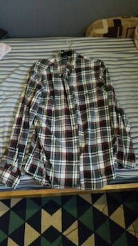 red, gray, and black flannel sport shirt Elmsford, 10523