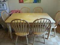 Dining table with 6 chairs - real wood! Toronto, M2H 2N9