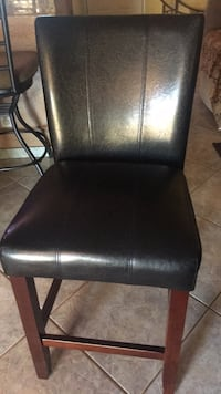 black leather padded armless chair Indio, 92201