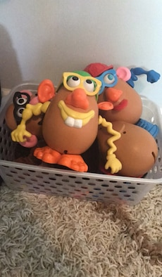MR and MRS potato of  toy story plastic collections